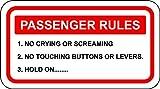 Funny Passagier Rules Aufkleber Auto 4x 4Van 4WD Offroad Quad Boot Jetski Visier