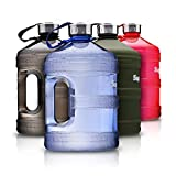 Supplify Gym Bottle Flasche BPA und DEHP freier Kunststoff - der Trend Wasserkanister (Blau Transparent, 3,78 L)