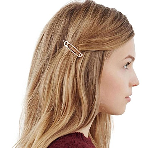 Damen Haarspange Forh Charm Haarnadel Niedlich Haahair Clips for Long Hair Brosche Pin Form Mode Mädchen Kopfschmuck Haarklammern (Gold)