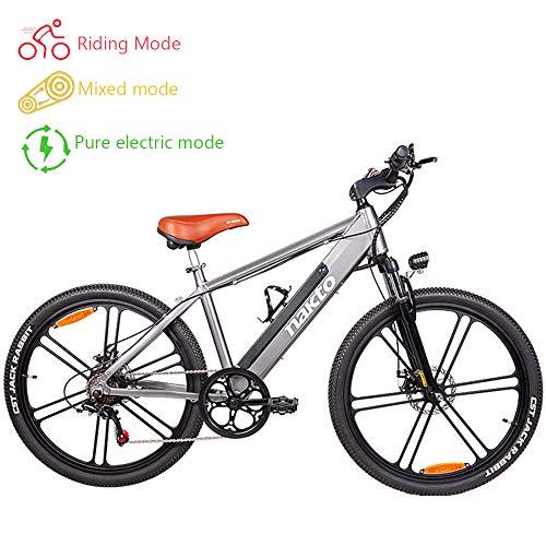 HJHJ Bicicleta eléctrica de Pedal/Bicicleta eléctrica de Grasa (6 velocidades 26 Pulgadas)...