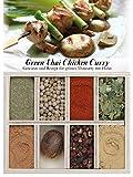 Green Thai Chicken Curry – 8 Gewürze Set für grünes Thai-Curry mit Huhn (43g) – in einem schönen Holzkästchen – mit Rezept und Einkaufsliste – Geschenkidee für Feinschmecker von Feuer & Glas