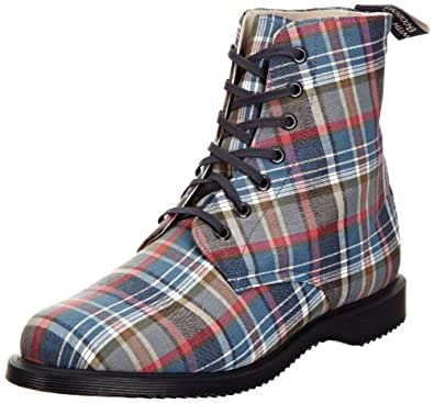 Dr Martens Men's Tobin Cotton Fabric Blue Madras Lace Up 14502400 6 UK
