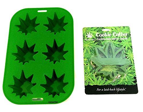 stonerware Topf Weed Marijuana Leaf Cookie Cutter & Pot Leaf Kuchenform Bundle (2Artikel) -