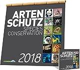 Mondberge-Artenschutzkalender 2018: Großformatiger edler Wandkalender mit Bildern bedrohter Tierarten
