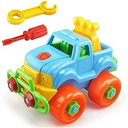Chickwin-Demontage Montage Spielzeug Karikatur Tierpuzzlespiel DIY Spielzeug mit Werkzeug Pädagogisches Kinderspielzeug ab 345 Jahren Alt (Farbe zufällige Lieferung) (LKW)