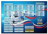 Spielplan Fußball WM 2018 Russland Poster im DIN A2 Format 42 x 59 cm, gerollt, alle Gruppen und Spiele der Weltmeisterschaft