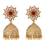 voril fashion red colur alloy dangle ear...