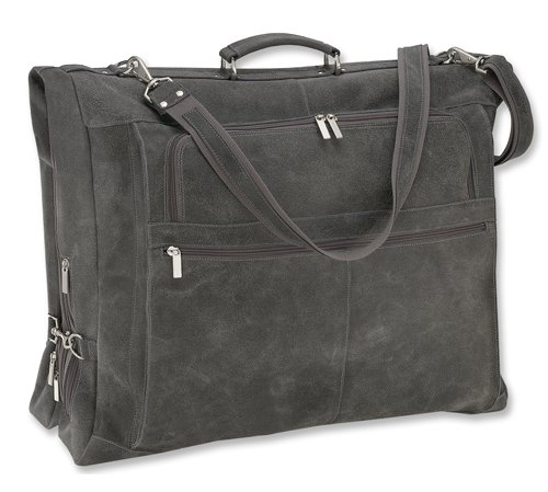 david-king-co-distressed-leather-garment-bag-grey-one-size
