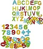 Unbekannt 72 TLG. Set _ Streumotive & Deko - aus Filz -  Buchstaben ABC + Zahlen  - 35 mm hoch - Alphabet / Konfetti Streukonfetti - für Schulanfang Schultüte / Schul..