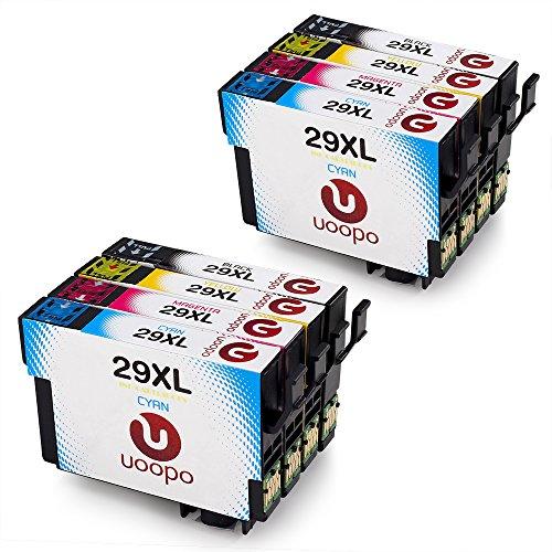 Uoopo Compatible Reemplazo para Epson 29XL Multipack Cartuchos de tinta Alta Capacidad para Epson Expression Home XP-235 XP-332 XP-342 XP-435 XP-245 XP-247 XP-335 XP-345 XP-432 XP-442 XP-445 Impresora (2 Negro 2 Cian 2 Magenta 2 Amarillo)