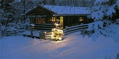 20 Weihnachtskarten Grußkarten Foto Weihnachten in der Hütte plano vorgefalzt bedruckbar 230 g/m² inklusive Umschlägen Mayspies 7690