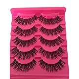 Bluelans® 5 Paar Quer Lange Falsche Künstliche Wimpern Natürlich Schwarz Eyelashes Wimpernverlängerung Make-up