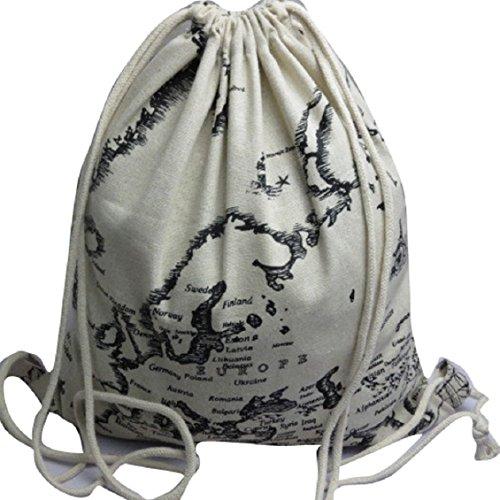 Transer Women Shoulder Bag Popular Girls Hand Bag Ladies Canvas Handbag, Borsa a spalla donna multicolore Green m, Image E (multicolore) - YLL60909533 Image B