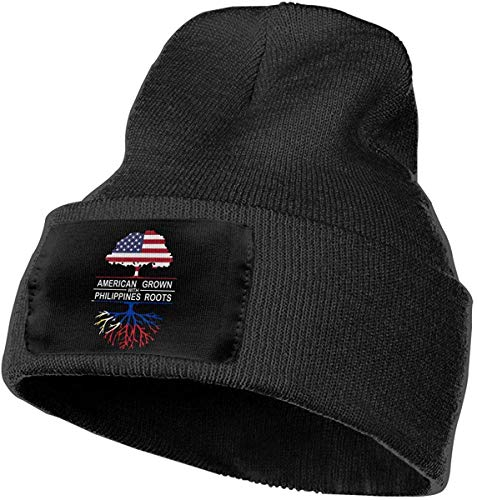 ZMYGH American Grown with Philippines Roots-1 Unisex Knit Beanie Hat Warm Ski Plain Cap