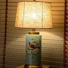 Eye lampe de table de protection Retro villa chambre verte rustique salon peint en cuivre céramique pleine lampe de table cadeau d'anniversaire ( style : B )