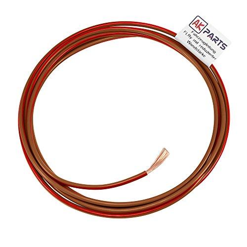 AK-Parts Fahrzeugleitung FLRY 10 Meter 0,75 mm² Braun ? Rot