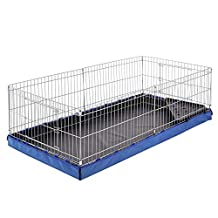 AmazonBasics Canvas Bottom Habitat Pet Cage - 47 x 14 x 24 Inches, Blue