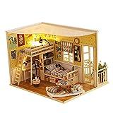 Coil.c Casa De Muñecas con LED, 3D Dollhouse Juguetes Educativos,...