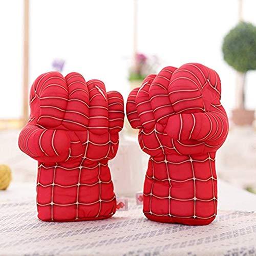 Superheld Plüsch Spiderman Boxing Gloves Cosplay Kostüm Für Geburtstag Weihnachten 1 Paar (Farbe : B) ()