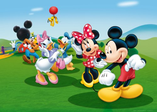 XXL Poster Fototapete Disney Mickey Mouse Donald Minnie 160x115cm