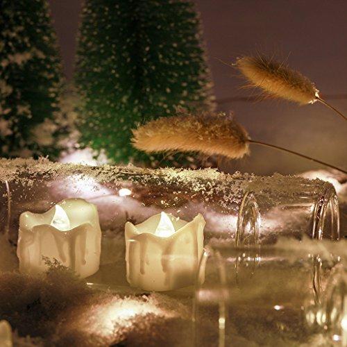 Fenteer Velas LED sin Llamade Luz de Té Alimentado por Pila de Botón Decoración Casera Operación Fácil - D, 40x32mm
