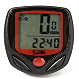 #9: amiciKart® 14 Function Cycle Computer Waterproof Cycle Speed Meter With Wire