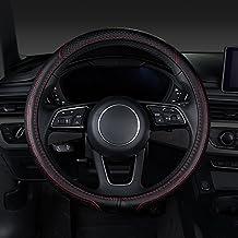 XU-Auto Funda protectora universal para volante de coche (piel auténtica), tamaño