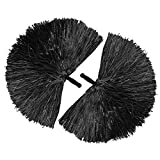 COM-FOUR® 2x Cheerleader PomPom in schwarz
