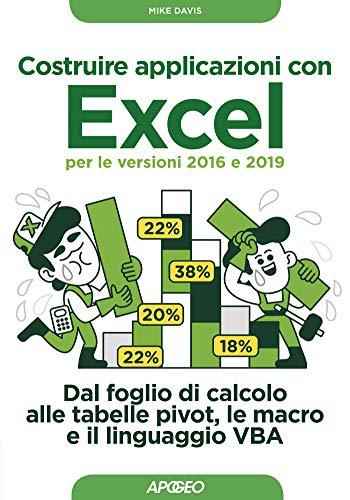 Costruire applicazioni con Excel per le versioni 2016 e 2019. Dal foglio di calcolo alle tabelle pivot, le macro e il linguaggio VBA