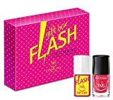 TNS COSMETICS Cofanetto Flash Top Coat e smalto Wild Flower 10 ml - 2 pz immagine