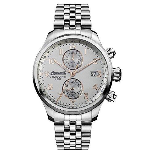 Ingersoll Herren Analog Quarz Uhr mit Edelstahl Armband I02501