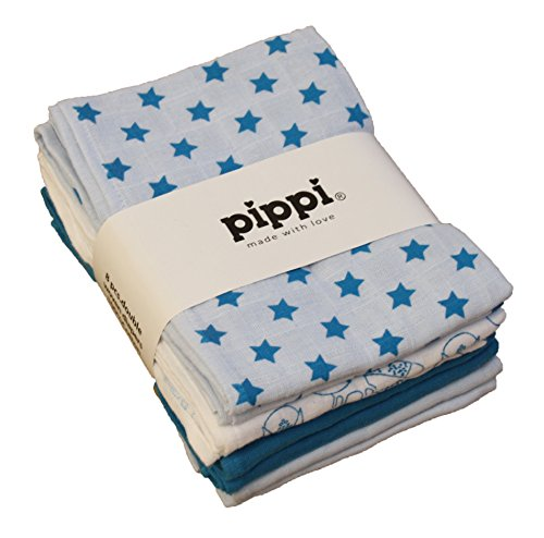 Pippi Baby - Jungen Schal Gr. Einheitsgröße (Herstellergröße:70*70 cm), Blau - Hellblau