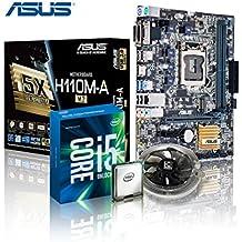 Memory PC Aufrüst-Kit Intel Core i5-7500 7. Generation (Quadcore) Kabylake 4x 3.4 GHz, 0 GB DDR4 2133Mhz, ASUS H110, 1792 MB Intel HD 630, USB 3.0, SATA3, 7.1 Sound, M.2 Sockel, GigabitLan, HDMI, MultimediaKIT, Kaby Lake, komplett fertig montiert und getestet