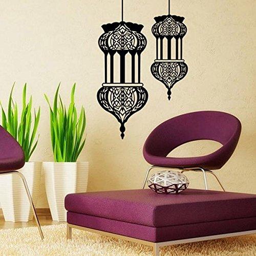Muslimischen Kostüm Bilder - Tutoy Halloween islamische Laterne Wandaufkleber muslimischen Muster Wandaufkleber Home Wandbild Sofa Wand Dekor