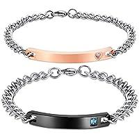 uomini e donne di acciaio inossidabile, braccialetto usanza far incidere
