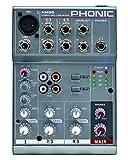 Phonic AM55–Kompakter Mixer 3Kanal (1Mic/Line + 2Stereo)