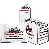 Fisherman's Friend Eucalyptus   Karton mit 24 Beuteln   Menthol und Eukalyptus Geschmack   Mit Zucker   Für frischen Atem