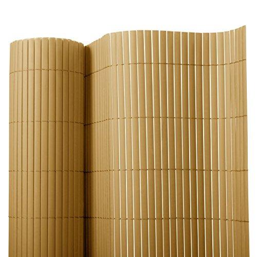 Recinzione giardino e balcone in pvc casa pura®   Giallo   120x300 cm   7 misure disponibili