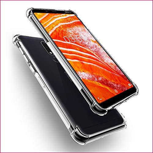 SCL Hülle Für Nokia 3.1 Plus Hülle, Kristallklarer Anti-Kratzer Weiche TPU Coverhülle für Nokia 3.1 Plus Case,Ultra klar