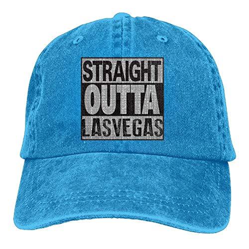 Khzhajian Straight Outta LAS Vegas Trend Printing Cowboy Hat Fashion Baseball Cap for Men and Women Black -