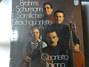 BRAHMS, Johannes: String Quartets (complete) - Quartetti per archi (integrale) - Samtliche Streichquartette - SCHUMANN String Quartets -- Philips ()-Quartetto Italiano-BRAHMS Johannes (Germania); SCHUMANN Robert (Germania)-Quartetto Italiano-PHILIPS-PHI 6703029-Vinyl