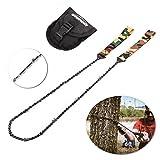 Overmont 16 dientes Sierra de cadena manual kit de supervivencia para camping senderismo al aire libre con bolsillo