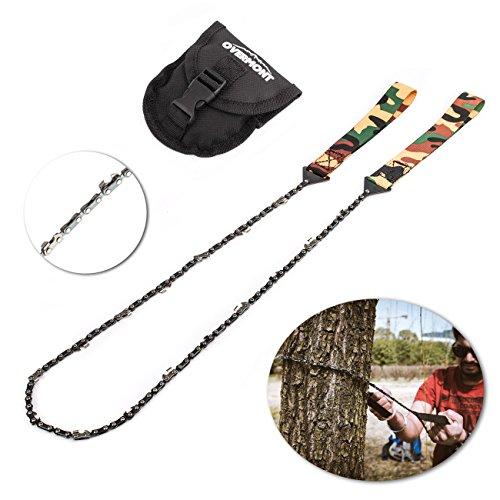 Overmont Sierra de cadena manual kit de supervivencia para camping senderismo al aire libre con bolsillo