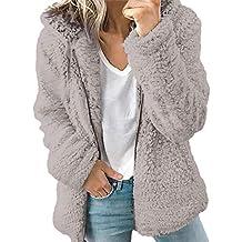 fadc6c86eba Abrigo Invierno Mujer Chaqueta Cálido Suéter Jersey Mujer Cardigan Mujer  Tallas Grandes Outwear Floral Bolsillos con