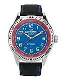 OW Weitzmann Dynamic, sportlich-elegante Herren-Uhr, grün/gelb, Echtlederarmband