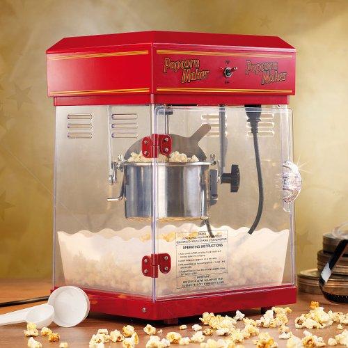 Rosenstein & Söhne – Popcornmaschine – mit Edelstahl Topf – im 50er-Retro Stil - 2