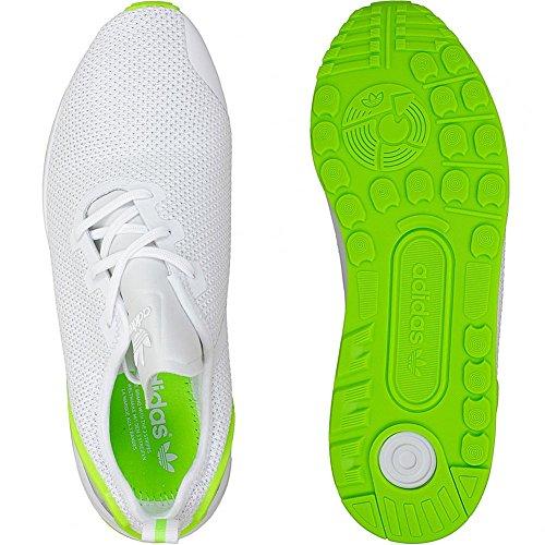 Adidas Originals Sneaker ZX Flux ADV Asymmetrical Sneaker Trainer White/Green