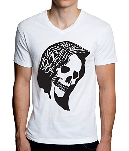 Fooling Death Since 1984 Design Men's V-Neck T-Shirt XX-Large -