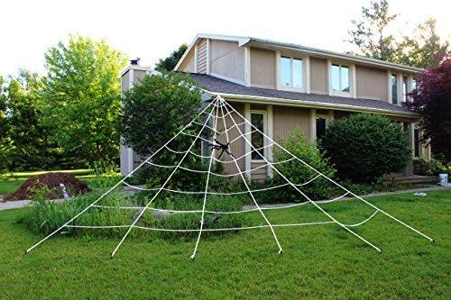 JOYIN Spinnennetz für Halloween, dreieckig, 23 x 18 m