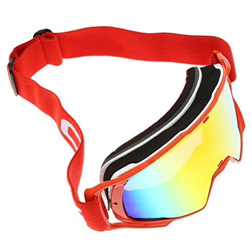 Rot Scooter Motorrad Brillen Motocross Sonnenbrillen Schutzbrillen für Skifahren Outdoor Sport